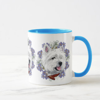Westie Forget Me Not Mug