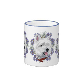 Westie Forget Me Not Coffee Mugs