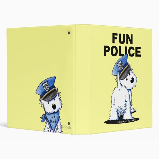 Westie FUN POLICE Binder