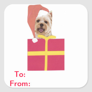 Westie Gift Tags To and From Sticker