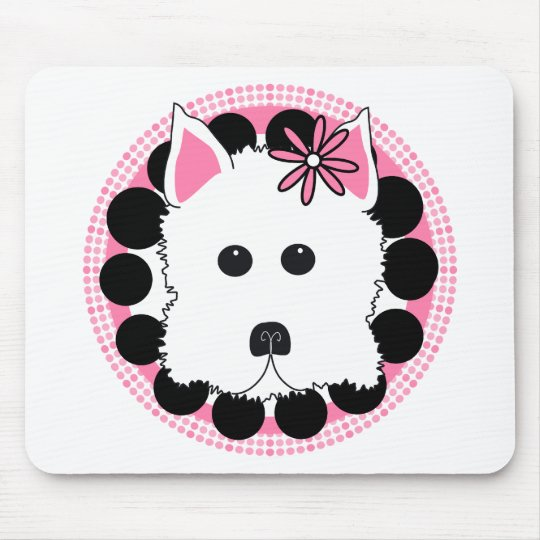 Westie Girl Mouse Pad