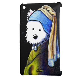 Westie Girl With Pearl Earring Cover For The iPad Mini
