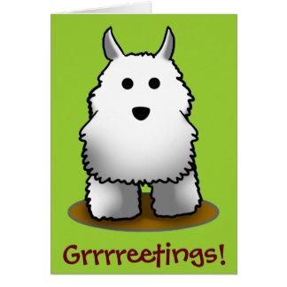 Westie Grrrreetings! Greeting Cards