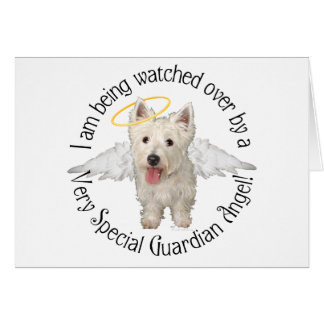 Westie Guardian Angels Greeting Card