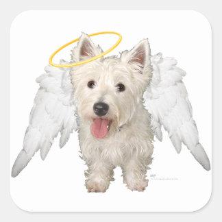 Westie Guardian Angels Square Sticker