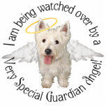 "Westie Guardian Angels Statuette<br><div class=""desc"">We have a Westie Guardian Angel. I am sure many of you do, too! They are our special Westies who have gone ahead to the Rainbow Bridge to light and guard, to rule and guide. . .and yes, to play and enjoy during the time they wait to be reunited with...</div>"