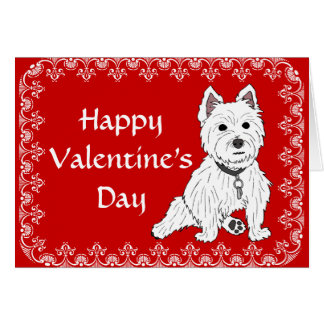 Westie Happy Valentine's Day Greeting Card