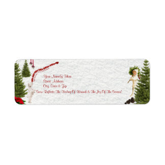 Westie Have Yourself a Merry Little Christmas Custom Return Address Label