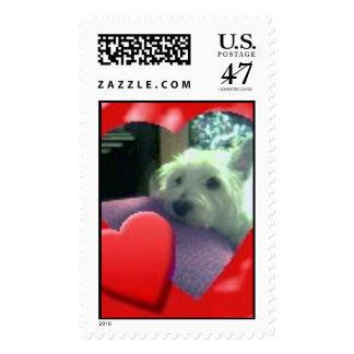 Westie Heart II Postage Stamp