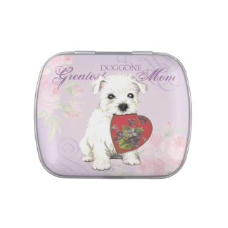 Westie Heart Mom Candy Tins