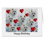 Westie Hearts Birthday Card