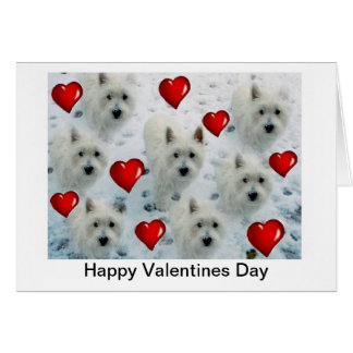 Westie Hearts Valentines Day Card