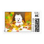 Westie - hojas de otoño - sello