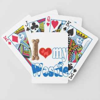 Westie I love my Westie Bicycle Playing Cards