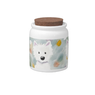 Westie Impressions Treat Jar Candy Jars