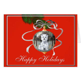 Westie in a Holiday Ornament Greeting Cards