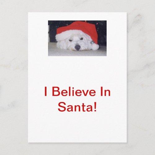 Westie in a Santa Hat Holiday Postcard