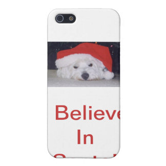 Westie in a Santa Hat iPhone SE/5/5s Cover