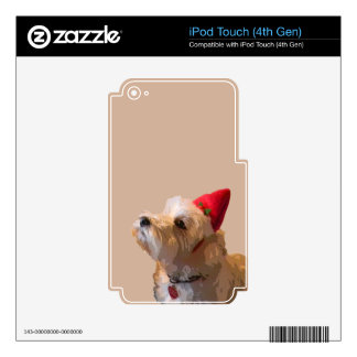 Westie in a Santa hat Skin For iPod Touch 4G