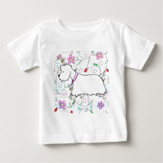 Westie in a spring plaid baby T-Shirt
