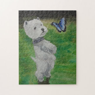 Westie in the Grass Jigsaw Puzzle