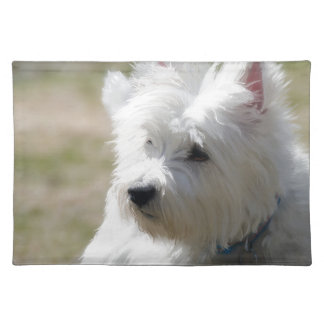 Westie in the springtime placemats