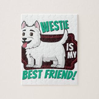 Westie is my best friend jigsaw puzzle