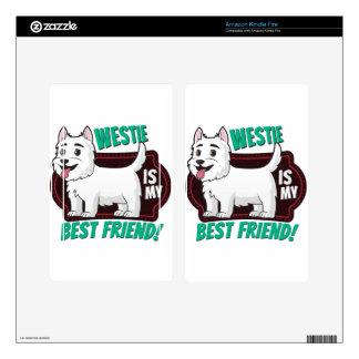 Westie is my best friend skin for kindle fire