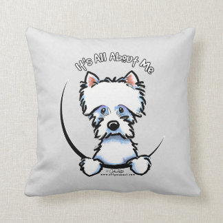 Westie Its All About Me Throw Pillow