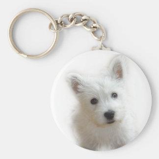 Westie Key ring Basic Round Button Keychain
