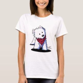 Westie Kissing Bandit Light T-Shirt