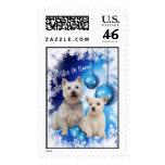 Westie Let It Snow! Design Postage Stamp