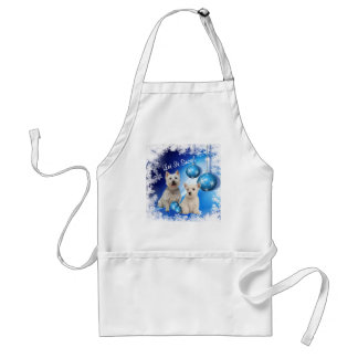 Westie Let It Snow Holiday Greeting Adult Apron