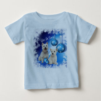 Westie Let It Snow Holiday Greeting Baby T-Shirt