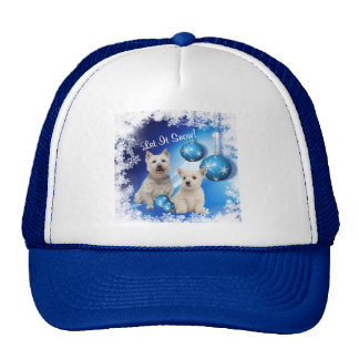 Westie Let It Snow Holiday Greeting Trucker Hat