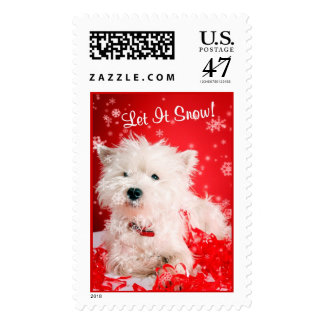 Westie Let It Snow! Postage Stamp #2