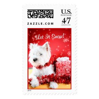 Westie Let It Snow! Postage Stamp #3