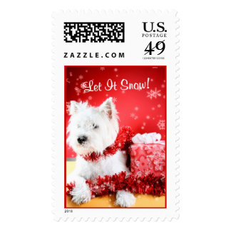 Westie Let It Snow! Postage Stamp #3