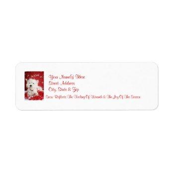 Westie Let It Snow! Return Address Labels by 4westies at Zazzle