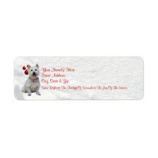 Westie Let It Snow! Return Address Labels #2