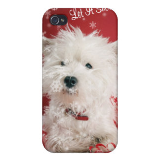 Westie Let It Snow! - Snowflake Holiday Design Cover For iPhone 4