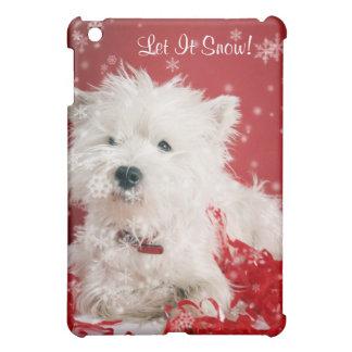 Westie Let It Snow! - Snowflake Holiday Design iPad Mini Case