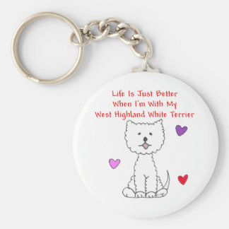 Westie Life Is Just Better Keychain