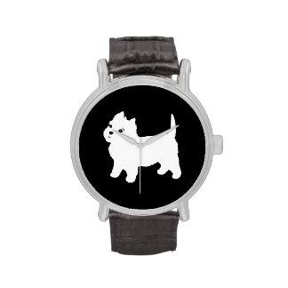 Westie lindo - montaña Terrier blanco del oeste Reloj