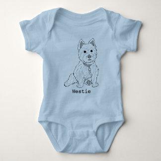 Westie Line Art Infant Bodysuit
