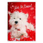 Westie lo dejó nevar saludando #2 - personalizable tarjeton