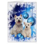 Westie lo dejó nevar saludo del día de fiesta - pe tarjetas