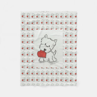 Westie Love Fleece Blanket