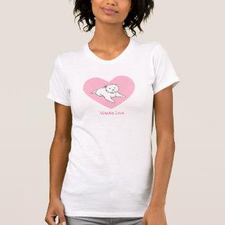 Westie Love Pink Heart Women's Tee