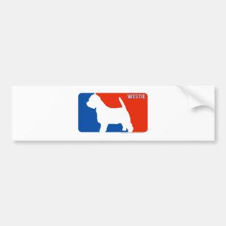 Westie Major League Dog Bumper Sticker